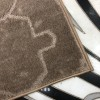Plain carpet Marilyn lumpy 004 brown
