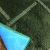 Plain green carpet