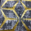 Turkish Mercedes Revan Carpet 412, gray and gold