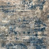 Turkish rugs Fugo gray cyan