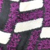Lamis Shaggy Silk and Light Purple with Black