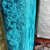 Plain Shaggy silk with soft turquoise