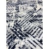 Turkish carpet, soft gray and blue striped