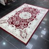 Turkish Carpet Diamant Cashmere S021A Burgundy Red