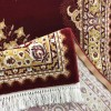 Turkish carpet diamond red burgundy