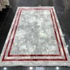 Turkish rugs New Soft 52 light gray with red
