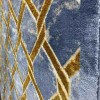 Turkish Maxim Carpet 109 Cyan and Gold